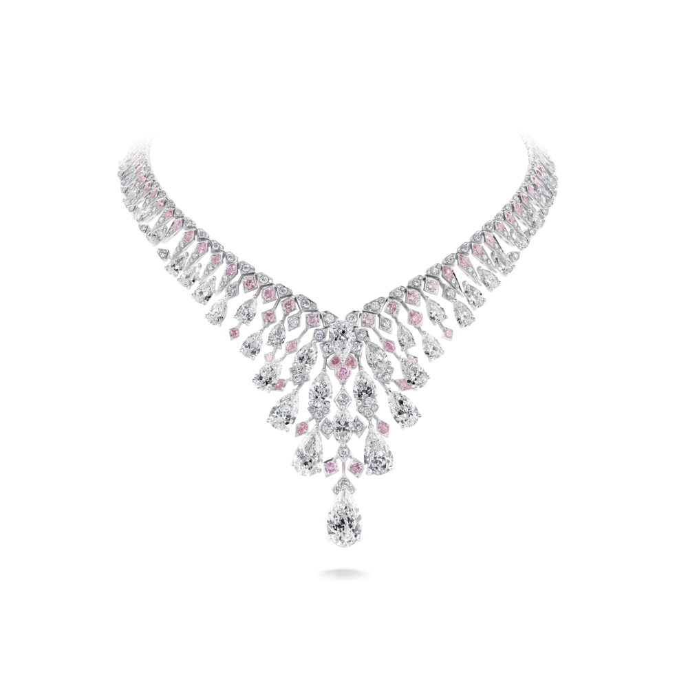 Chrysalis Necklace Crafted With 73.79ct White And Pink Diamonds, Set In 18ct White And Rose Gold2
